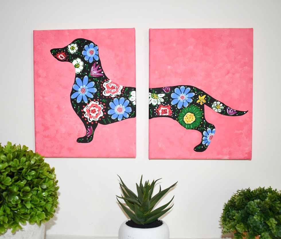 Dachshund Painting - Misfit Manor Shop
