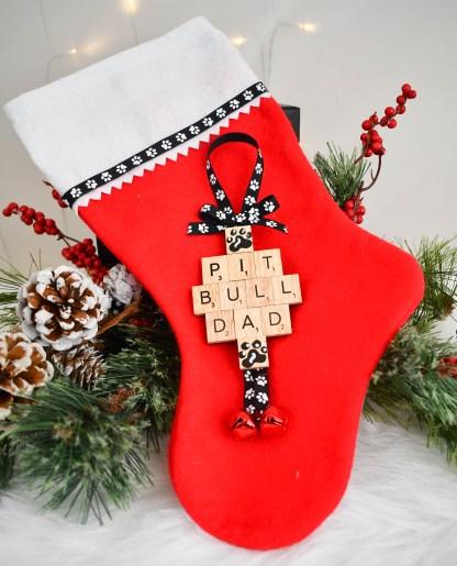 Pitbull Dad Gift Ornament