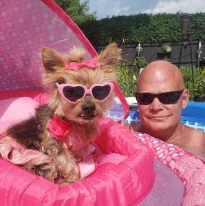 dog pool at Misfit Manor