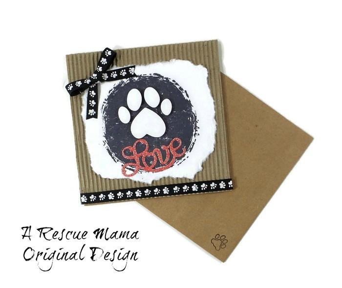 pet sympathy card, loss of dog card, loss of cat card, The Rescue Mama, Nancy Halverson