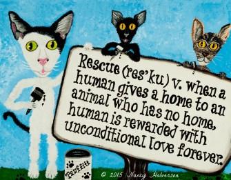 Cat Rescue Art