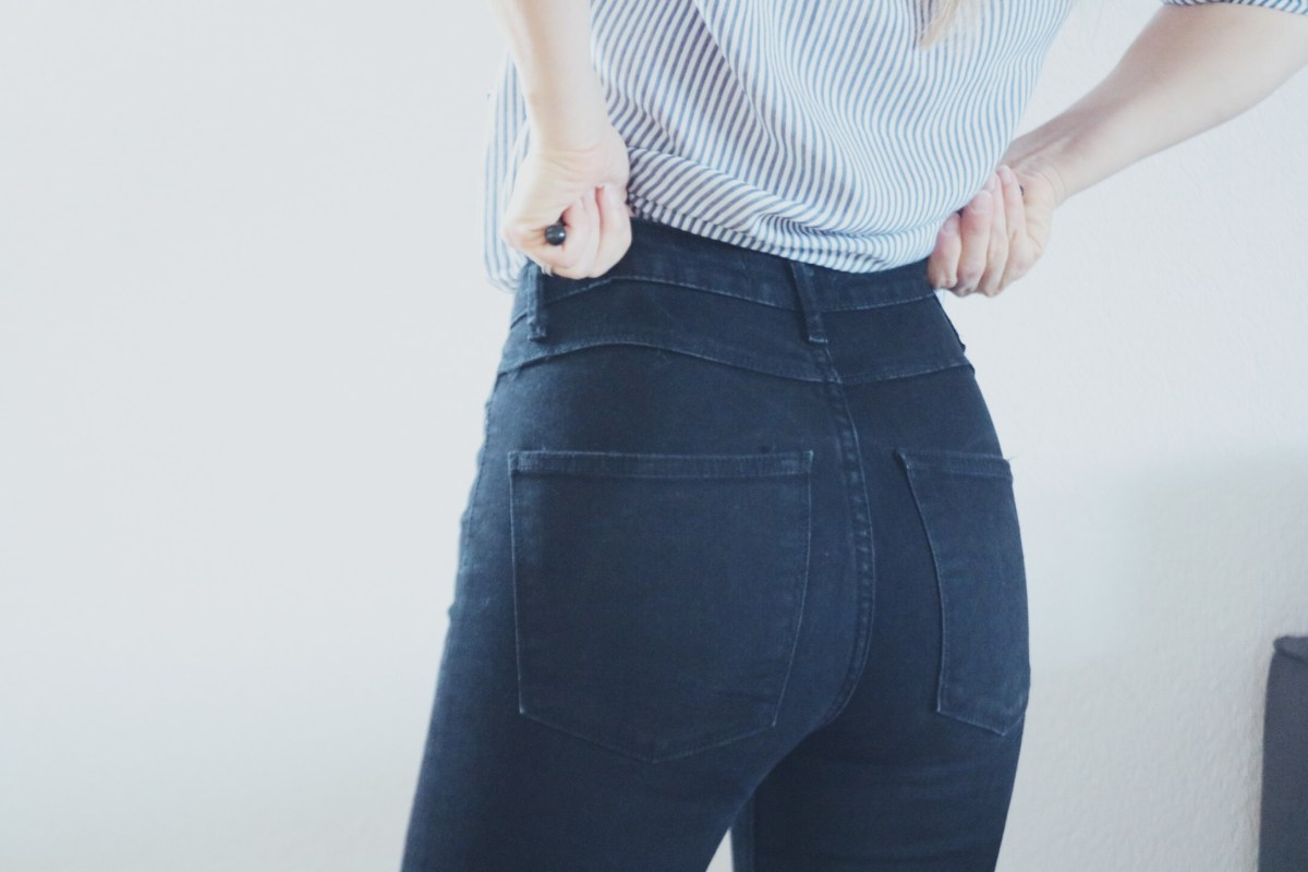 jean taille haute blog mode style