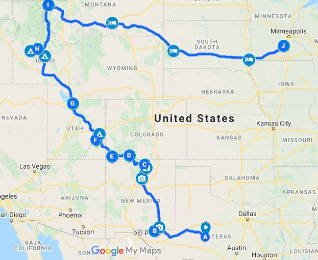 Optimal Road Trip Planning
