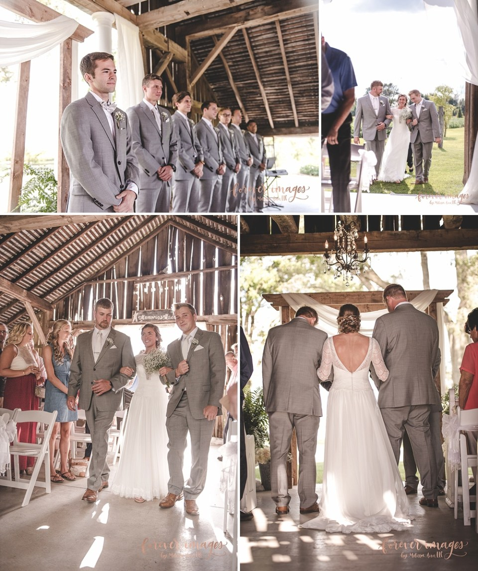 Farmhouse Weddings ceremony