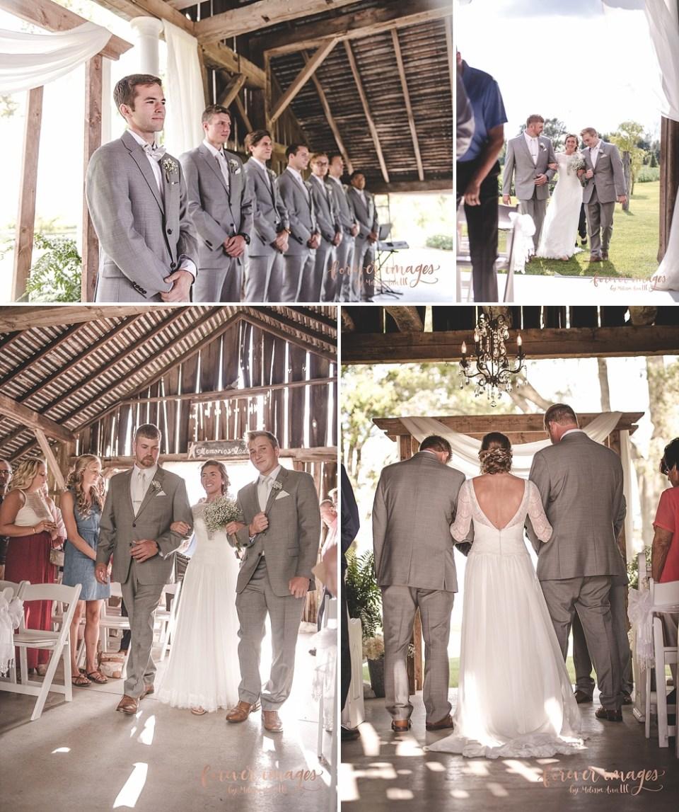 Farmhouse Weddings ceremony