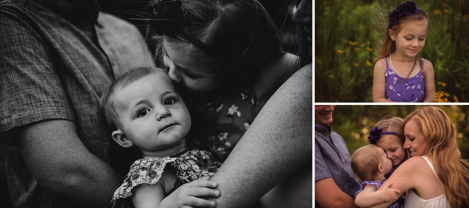 moody low contrast family photography