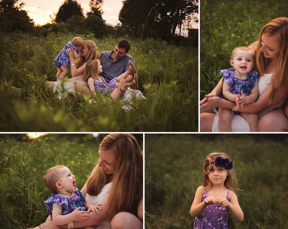 moody golden hour family photography