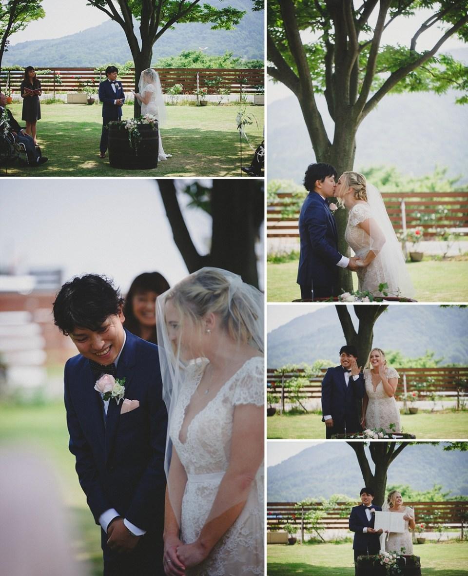 romantic wedding in Japan
