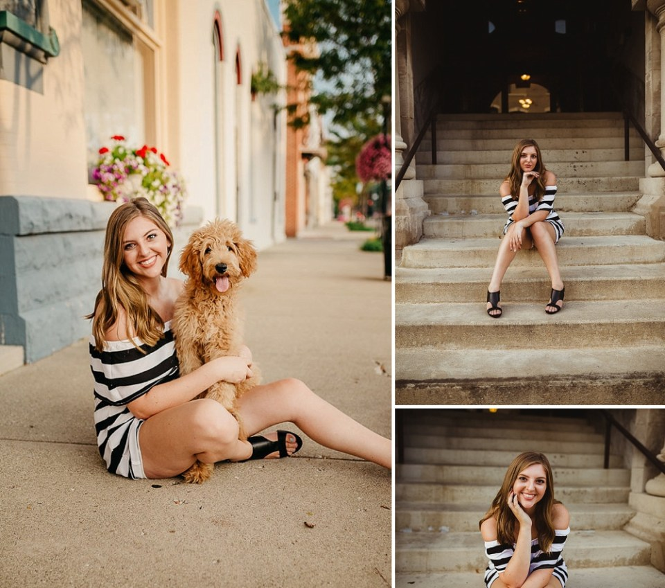 senior photos with dog