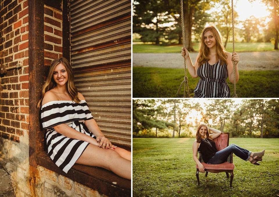 senior pics in upholstered chair
