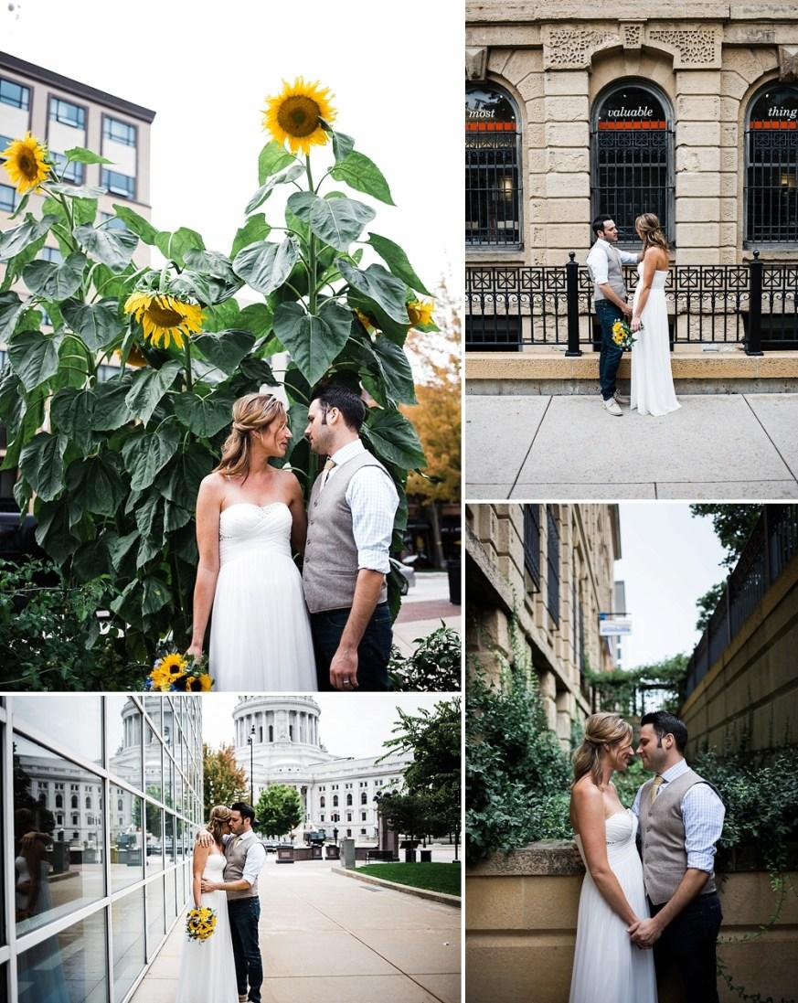 wedding photos around downtown Madison Wisconsin