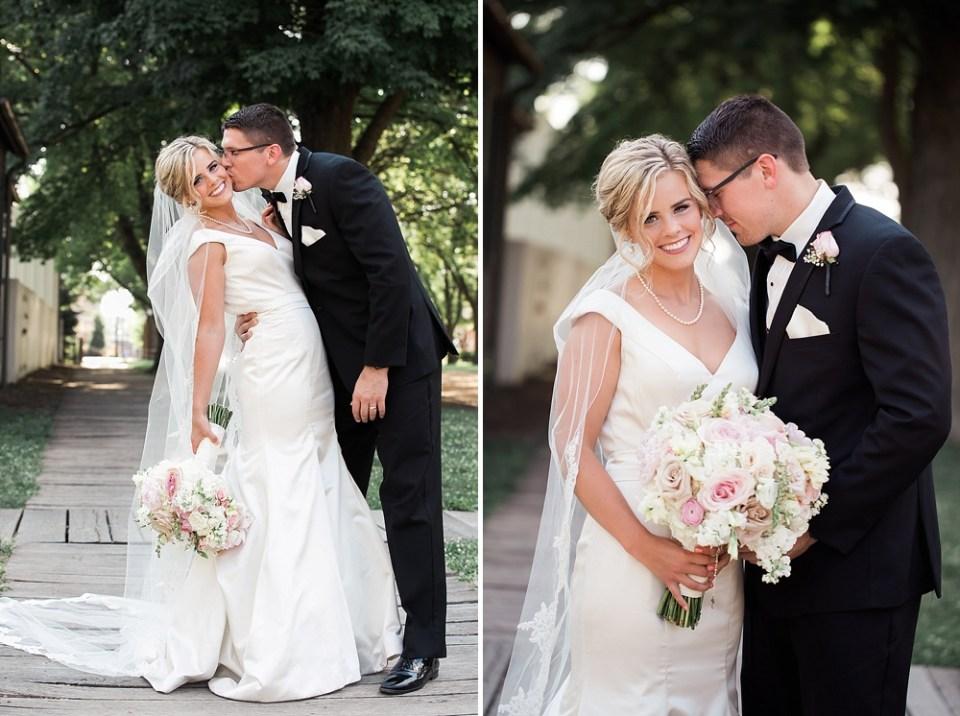 gorgeous black tie wedding portraits