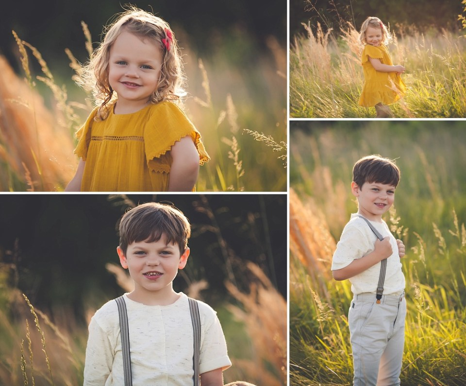 individual child photos during family session