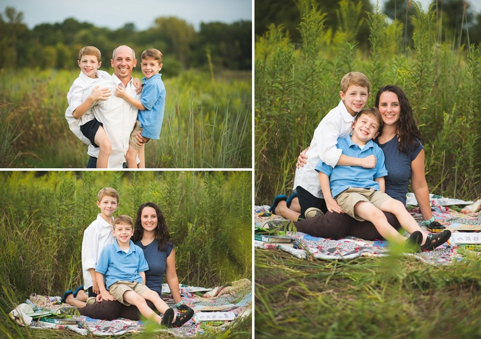 family photos at Watershed Nature Center