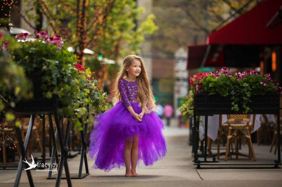 purple second-hand fairytale dress