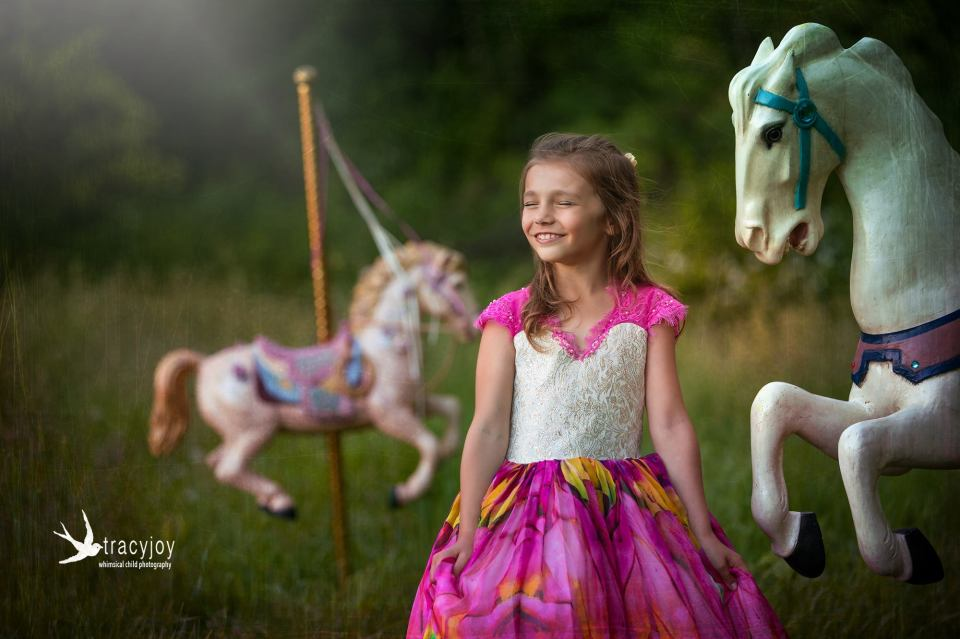 carousel ponies photography session