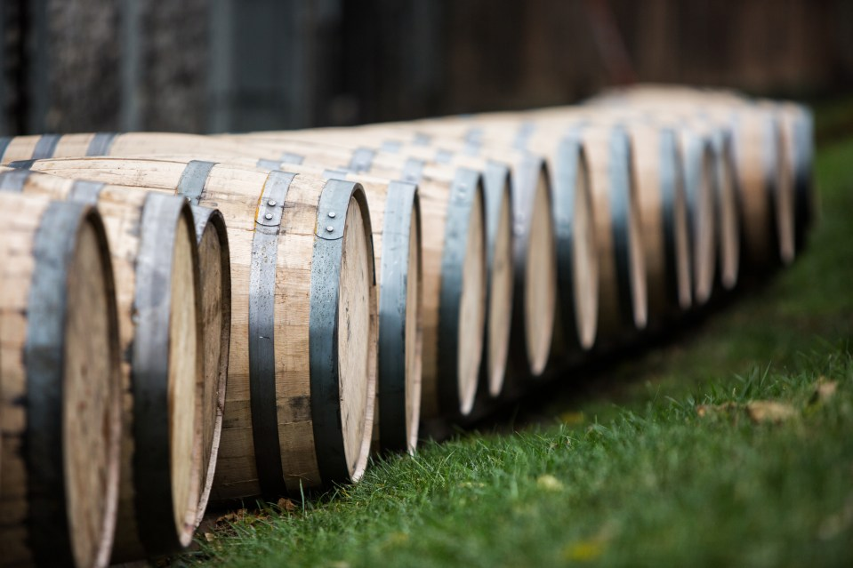 bourbon barrels in Kentucky