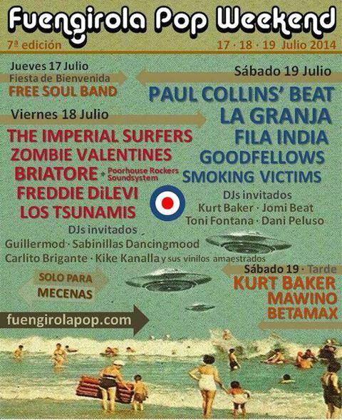 Funegirola Pop Weekend 2014 poster