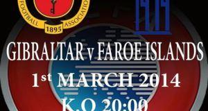 Gibraltar v Faroe Islands football friendly poster