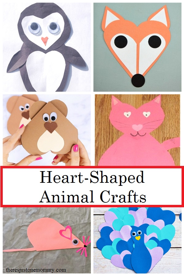 Heart Shaped Crafts : heart, shaped, crafts, Heart, Shaped, Animal, Crafts, There's, Mommy