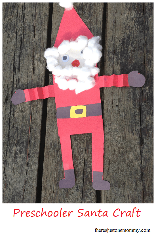 Simple Santa Craft Theres Just One Mommy