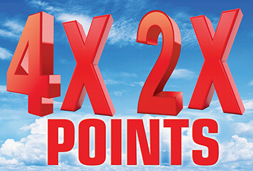 4x and 2x Points Every Monday