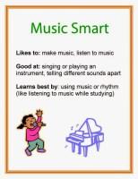 Multiple Intelligence Music Smart printable poster