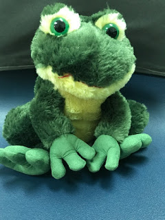 Inexpensive stuffed frog used when teaching Kelso's Choice