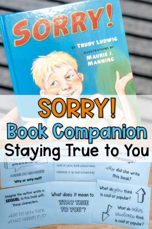 sorry book companion lesson