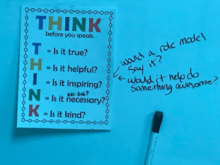 THINK acronym and properties poster