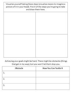 Goal setting worksheet for 4th graders