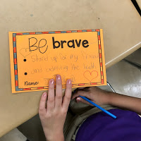 School counseling lesson plan Be a Leader Examples of students chosen traits they will work on