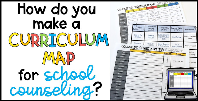 curriculum mapping for school counseling
