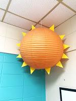 paper mache sun