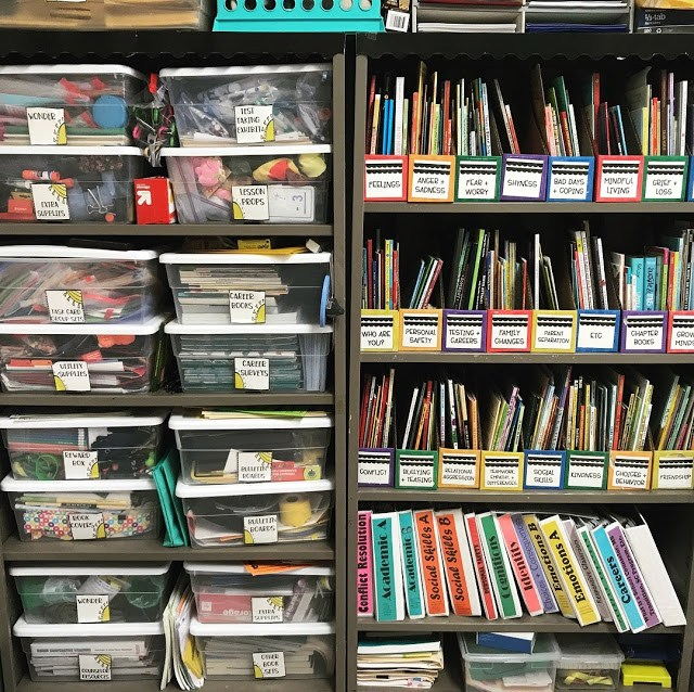 organized book cases