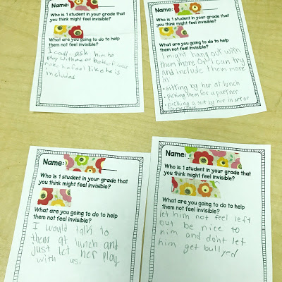 the invisible boy lesson plan exit ticket