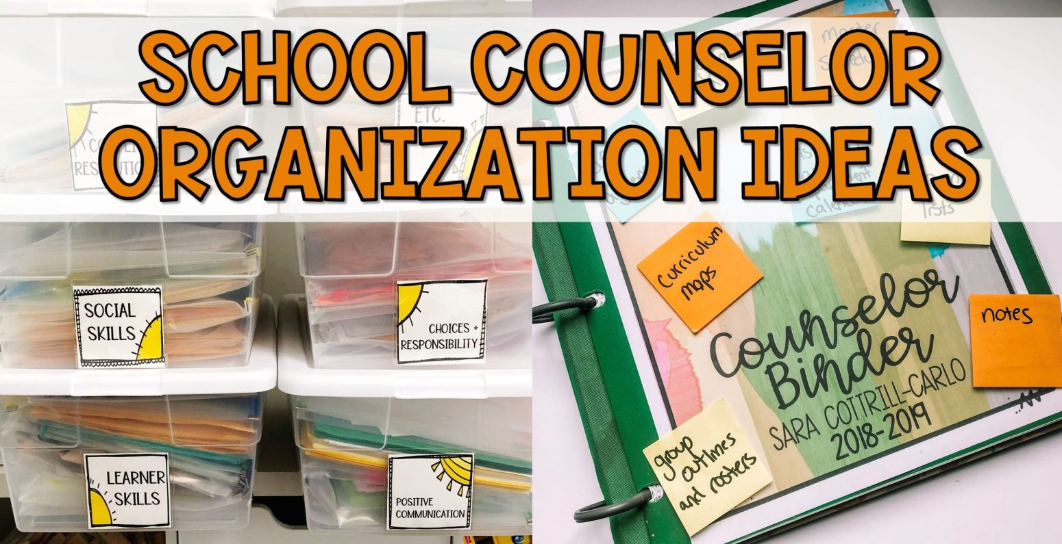 organization tips for school counselors
