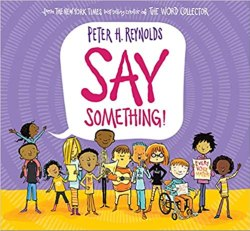 say something by peter reynolds book cover
