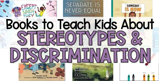Teach kids about stereotypes and discrimination book covers