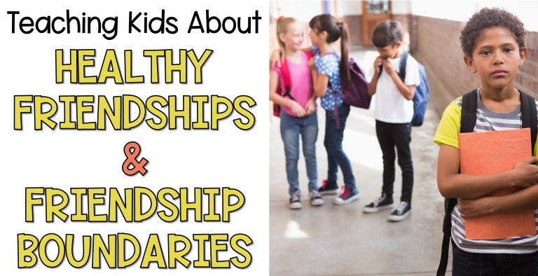 Teaching kids about healthy friendships and friendship boundaries students standing in the hallway talking