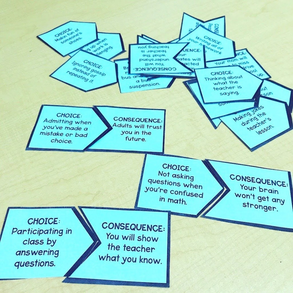 teaching kids about choices and consequences