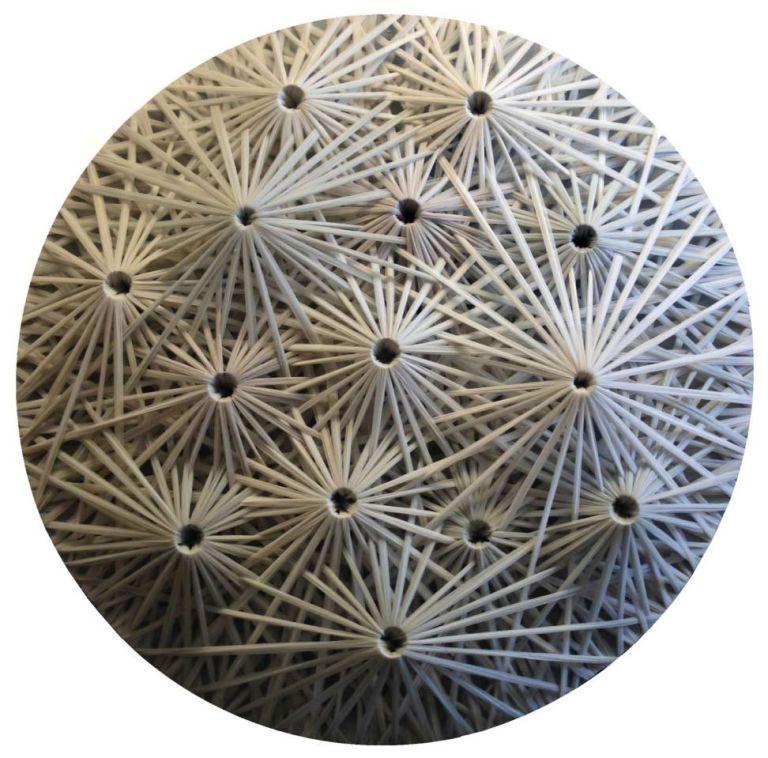 Emilio Cavallini, 'Linear Fractal (white 3D)' ,tights, 39,4 x 39,4 in.
