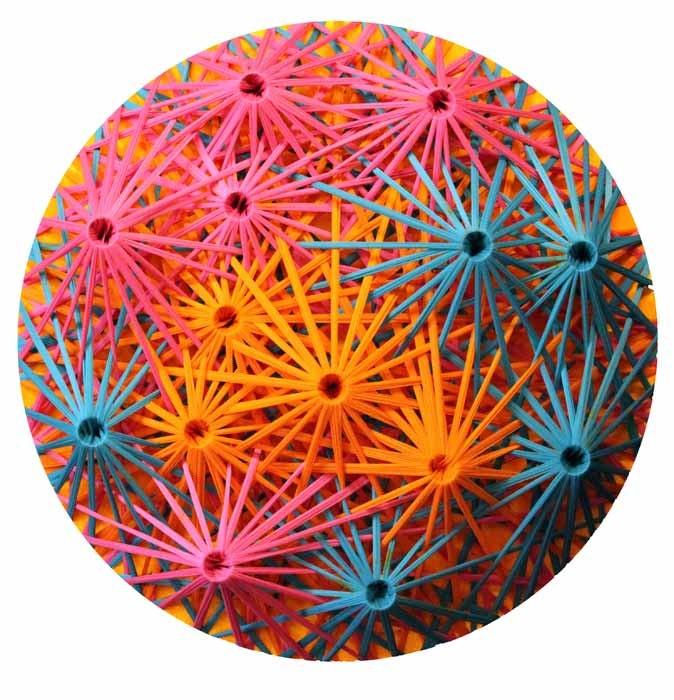 Emilio Cavallini, 'Linear Fractal (multicolor 3D)', tights, 39,4 x 39,4 in.