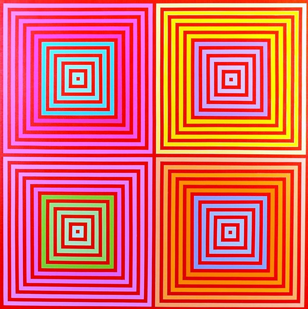 Richard Anusckiewicz, 'Four on Four', 2013, acrylic on canvas. Image courtesy Museum of Art DeLand.