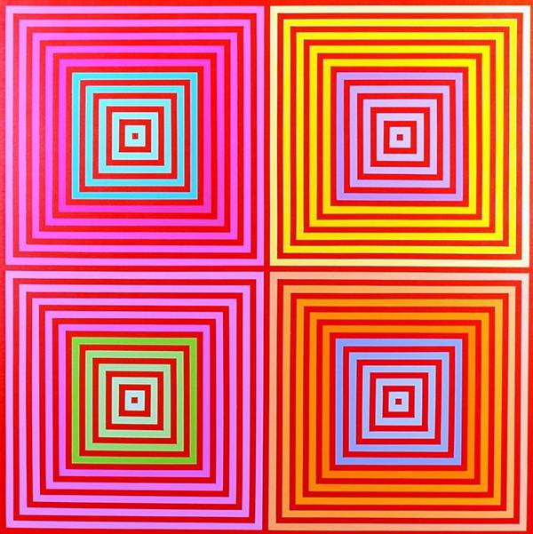Richard Anusckiewicz, 'Four on Four', 2013, acrylic on canvas. Image courtesy Museum of Art DeLand.