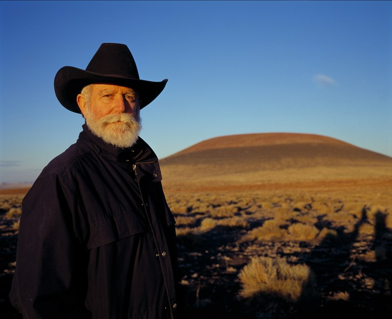James Turrell at Roden Crater, Arizona.