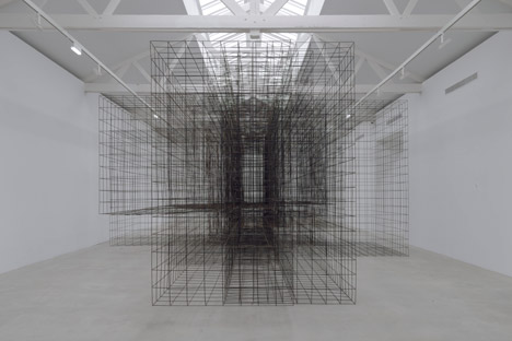 Antony-Gormley-Second-Body-the-Matrix-II-Sculptures-at-Galerie-Ropac-Paris-Pantin-2015