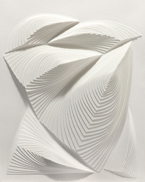 """White Free Form - Out # 3"" 2 ply rising board - size : 20 1/2"" x 25"""