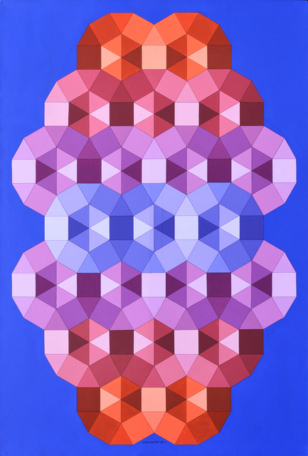 Victor Vasarely, 'Tizenne 2 cm', 1986, Acrylic on canvas, 74 4/5 × 51 1/5 in (190 × 130 cm).