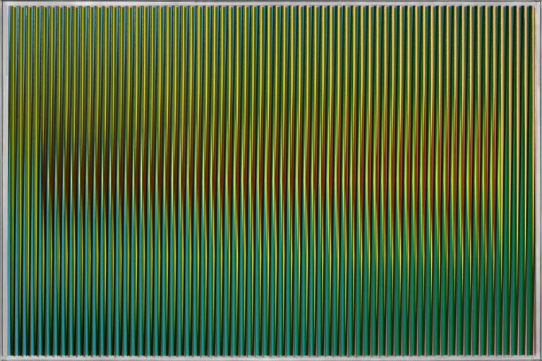 Carlos Cruz Diez, 'Physichromie Panama 83', Panamá 2012, aluminum, plastic, and acrylic, 19.69 x 29.53 inches (50 x 75 cm).